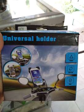 holder motor japit silang holder spion + usb / charger aki -sinar kita