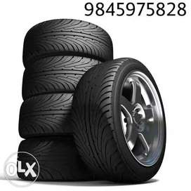 Brand new tyres alloys unconditional warranty & 1 lakh kms guarantee