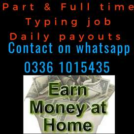 (Online Job for male and female at home based part time)