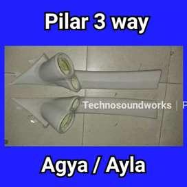 Paket Pilar 3 way agya ayla panel tiang kanan kiri for paket tv sound