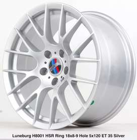 Jual beli velg mobil BMW R18x8/9 LUNEBURG SILVER