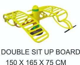 Double Sit Up Board Alat Fitness Outdoor Murah Garansi 1 Tahun