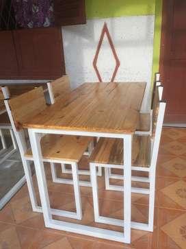 Meja Kursi Cafe Resto Set