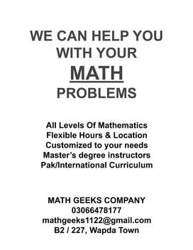 WE CAN HELP YOU WITH YOUR MATH  PROBLEMS