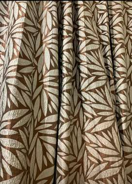 5 panels of curtains with lining
