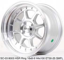 Toko pelek SC-03 8003 HSR R16X8/9 H4x100 ET30/25 SMFL