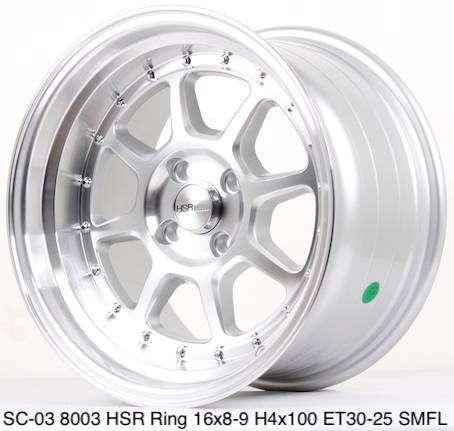 Toko pelek SC-03 8003 HSR R16X8/9 H4x100 ET30/25 SMFL 0