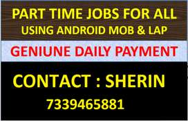 Data Entry Genuine Part Job in COIMBATORE With DAILY SALARY (MOB/LAP)