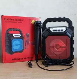 Speaker bluetooth gratis mic karaoke siaran keras bukan kaleng2