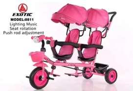Sepeda stoller utk anak kembar atau kk adik bsa dua arah merk terbGus