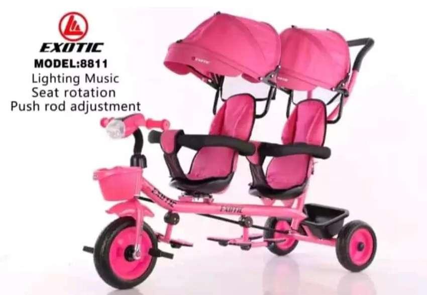Sepeda stoller utk anak kembar atau kk adik bsa dua arah merk terbGus 0