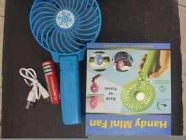 handy mini fan kipas genggam mini rechargeable (sinar kita)