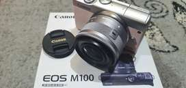 Mirrorless Canon M100 like new masih garansi september