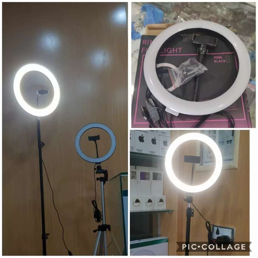 New Large 26cm Ringlight with Mobile Holder and Stand 7 feet 0