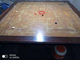 Carrom board with high quality iron stand