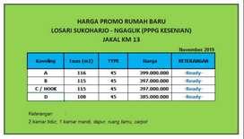 Rumah Murah Jogja Utara 300 Juta-an di Kaliurang, Cara Bayar Mudah