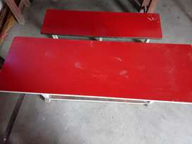 Attached bench and desk solid iron frame
