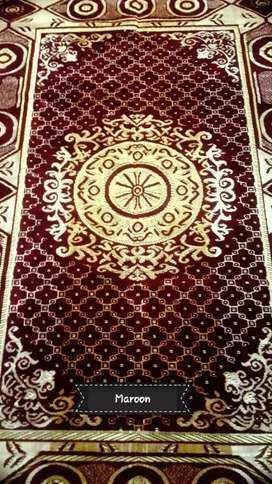 Pure malmal made carpets ( red and golden )