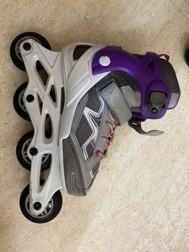 Best brand - Oxelo Fit 3 Kids' Inline Skates - Purple/Grey. Less used