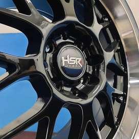 Velg Mobil Black Polish Ring 15x7-8 Modifikasi Toyota AgYA