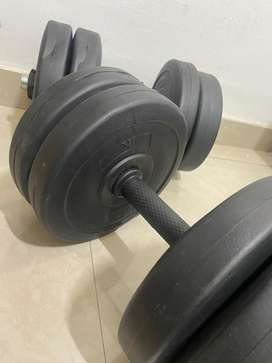5kg and 10kg dumbbell pair