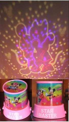 lampu tidur proyektor star Master Motif Mickey Mouse
