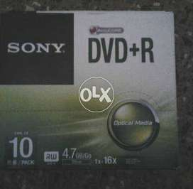 Sony Blank DVD-R 4.7 GB Data (09) Disk pack with cd casing