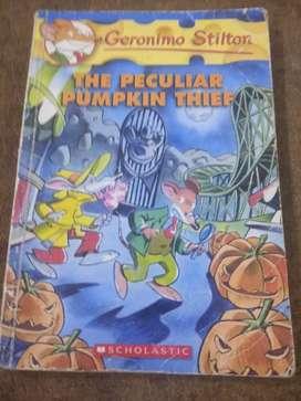Geronimo Stilton the peculiar pumpkin thief (story book)