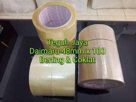Lakban Opp Merk Daimaru, 48 mm x 100 Berbagai Warna