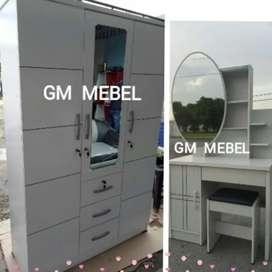 GM MEBEL. PROMO Kamar Set Lemari Meja Rias Pku