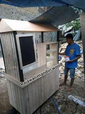 Booth kayu pinus/jati belanda