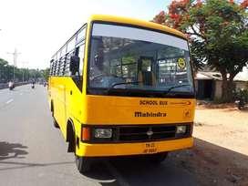 school use mahindra bus