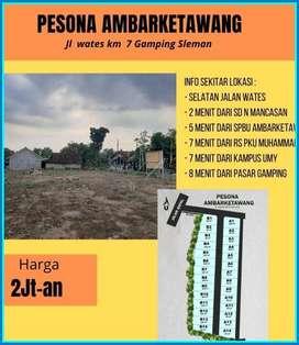 Tanah Murah Ambarketawang Jauh Makam dan Sungai Pasti SHM