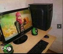 light used desktop 2gb ram core2duo pc with monitor