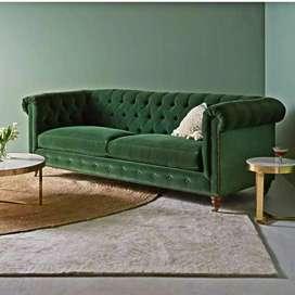 Pre order Sofa casterfil 2 seater rangka sofa kayu jati