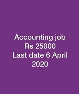Accountants required part time Rs 25000