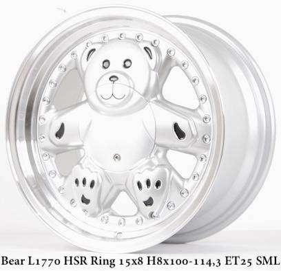 BEAR Velg baru   HSR R15X8 H8X100-114,3 ET25 SML 0
