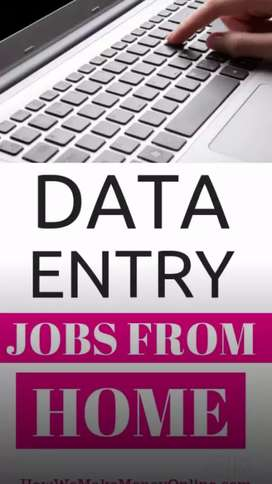 Work From Home & or real time genuine data entry jobs