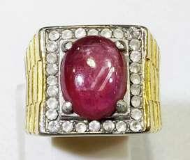 Cincin Batu Ruby Tanzania R-8