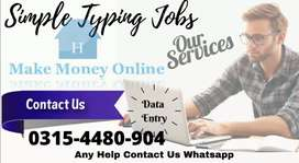 Simple typing jobs are available for everyone  in Pakistan.
