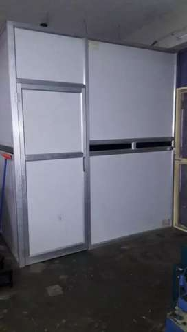 Aluminum partition and hard board