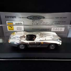 Ferrari 750 MONZA Limited 2000Pcs 1/43 Silver Plated By Best Models