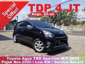 [TDP 4JT TERMURAH] Toyota Agya TRD Sportivo M/T 2015 Tangan 1 ISTIMEWA