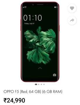 Oppo F5, 6GB Ram 64 GB Rom