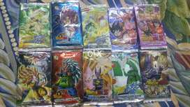 Dragon Ball kai packs, Dragon Ball heroes and dragon Ball packs..