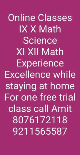 ONLINE CLASSES (MATHS & SCIENCE)