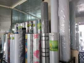 Wallpaper papers, glass papers, wood papers, blinders and etc