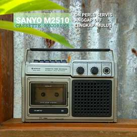 Sanyo M2510 Tape Anggap OFF No Radio Antik Jadul Lawas Boombox Compo