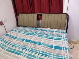 Godrej Morpheus Metal Queen Bed + Sleepwell Spinetec Air Mattress