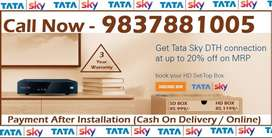 26% off- Airtel Tata Sky DTH D2H DishTV - Tatasky Dish New connection